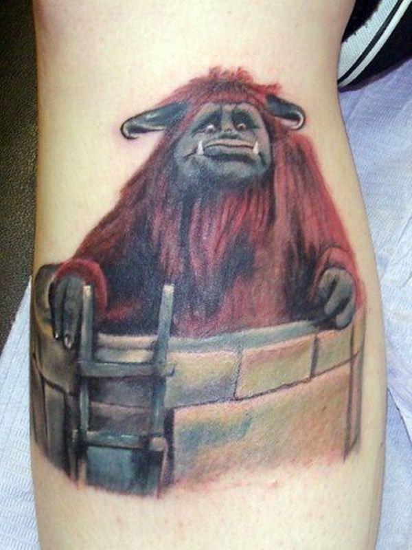 Movie-Character (Ludo) Gorilla Tattoo