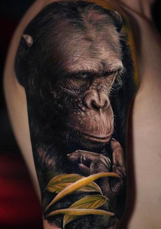 Pictorial Gorilla Tattoo