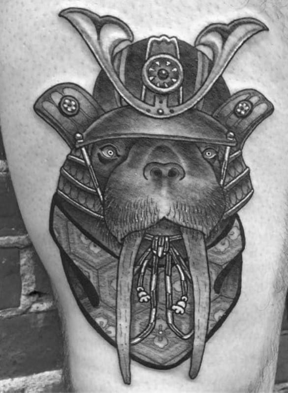 Pirate Walrus Tattoo