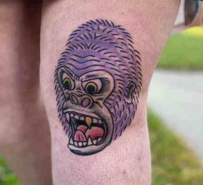 Purple Gorilla Tattoo