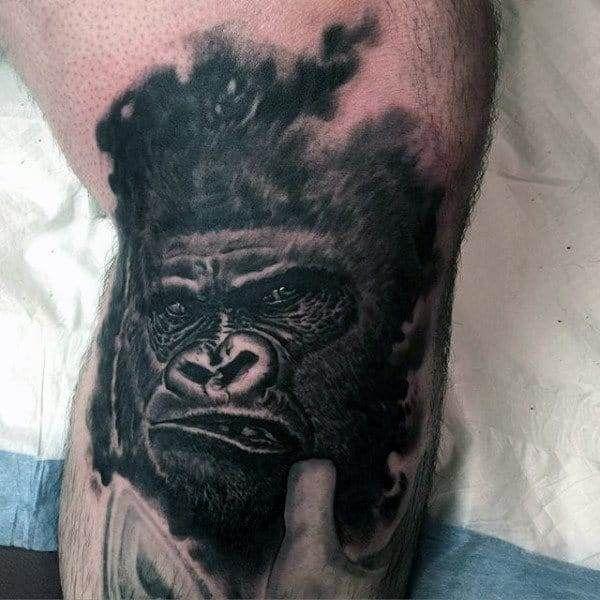 Smokey Gorilla Tattoo