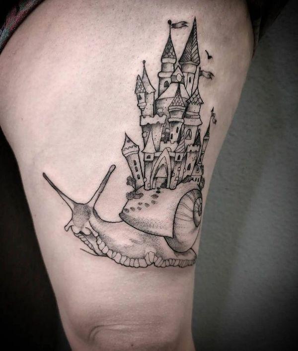 Snail Castle Tattoo