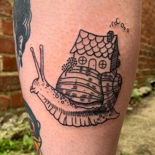 Snail Cottage Tattoo