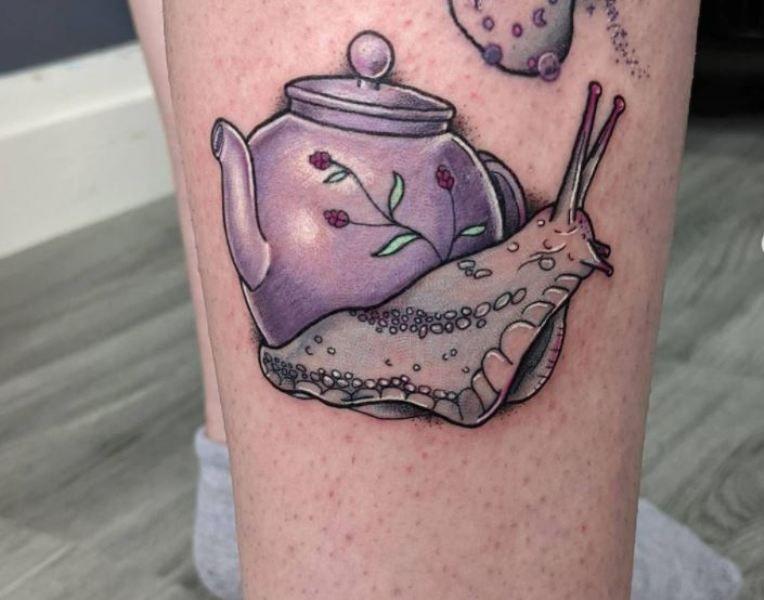 Snail Teapot Tattoo
