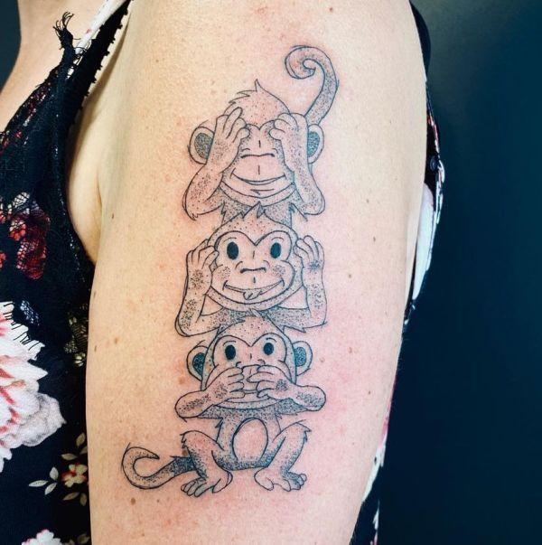 'The Three Monkeys' Tattoo