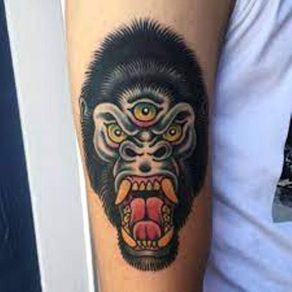 Three-Eyed Gorilla Tattoo
