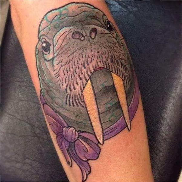 'Walrus with Ribbon' Tattoo